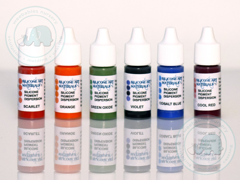 secondary colors silicone pigment kit 6 pieces