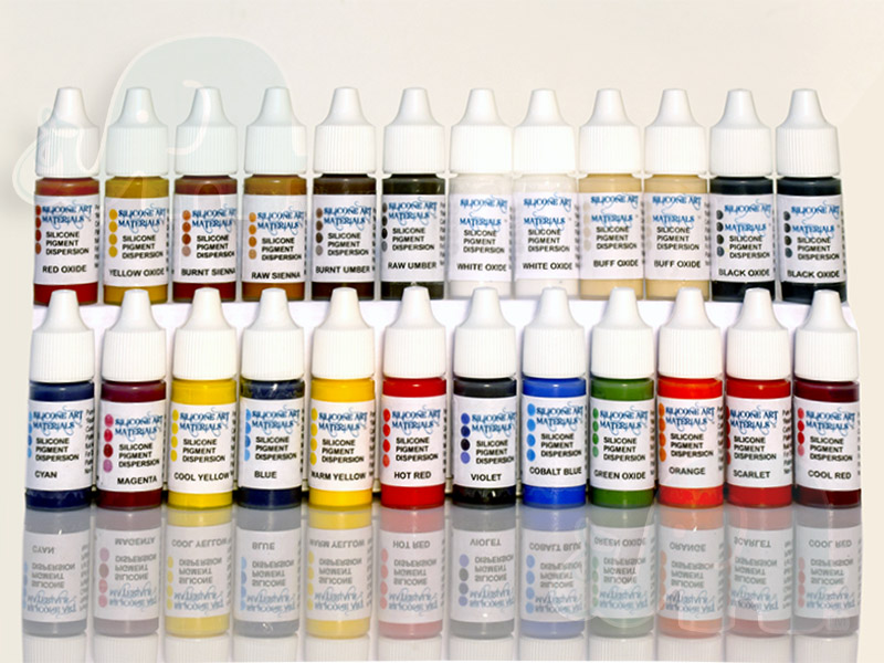 21 original colors silicone pigment kit 24 pieces